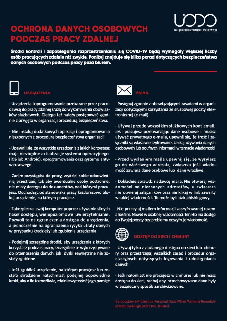 ochrona danych osobowych_praca zdalna_portal ODO