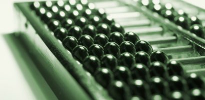 Close Up of Abacus in Green Tone